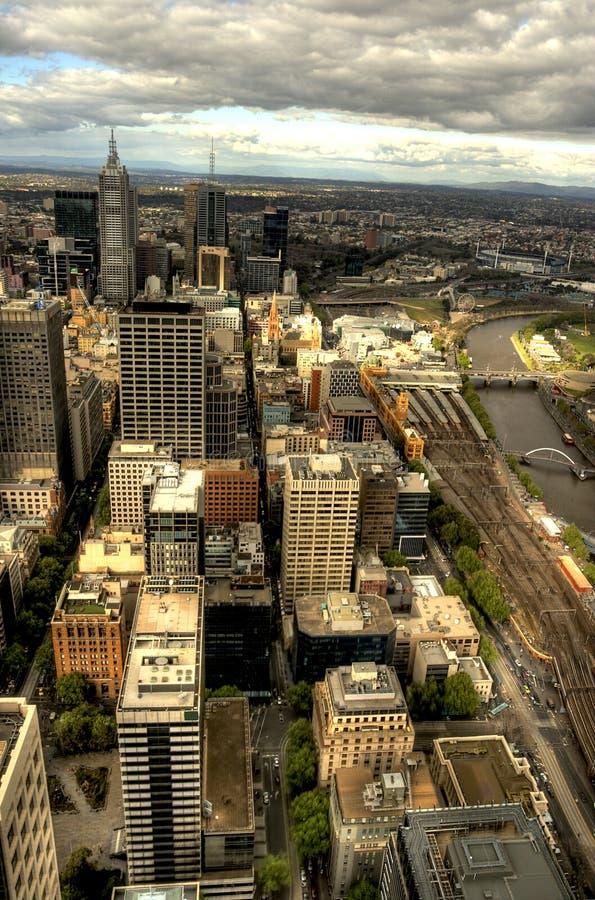 Melbourne-Stadtbild in HDR stockbild