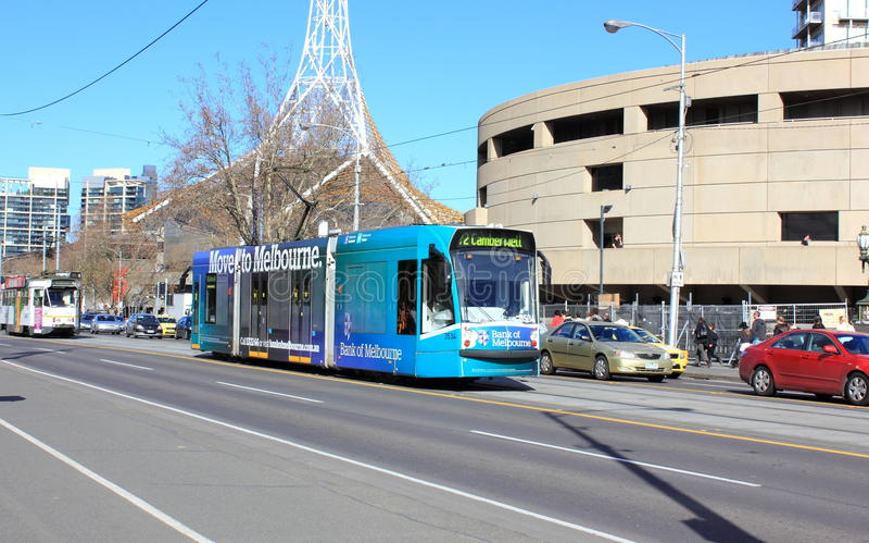 Melbourne-Stadttransport lizenzfreies stockbild