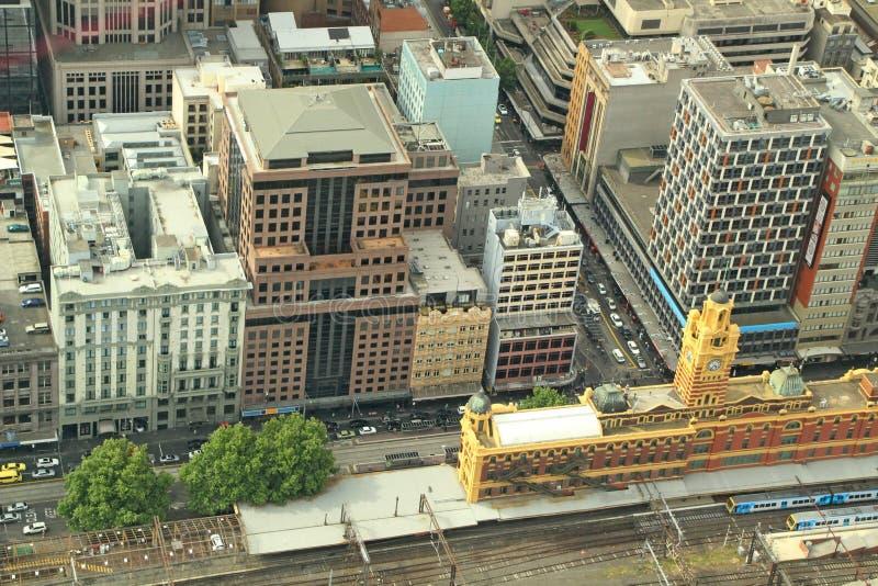 Melbourne-Stadtzentrum lizenzfreie stockfotos