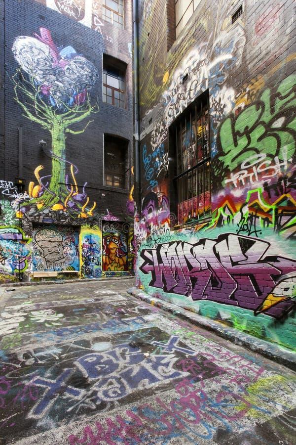 Melbourne-Straßen-Graffiti stockfotos