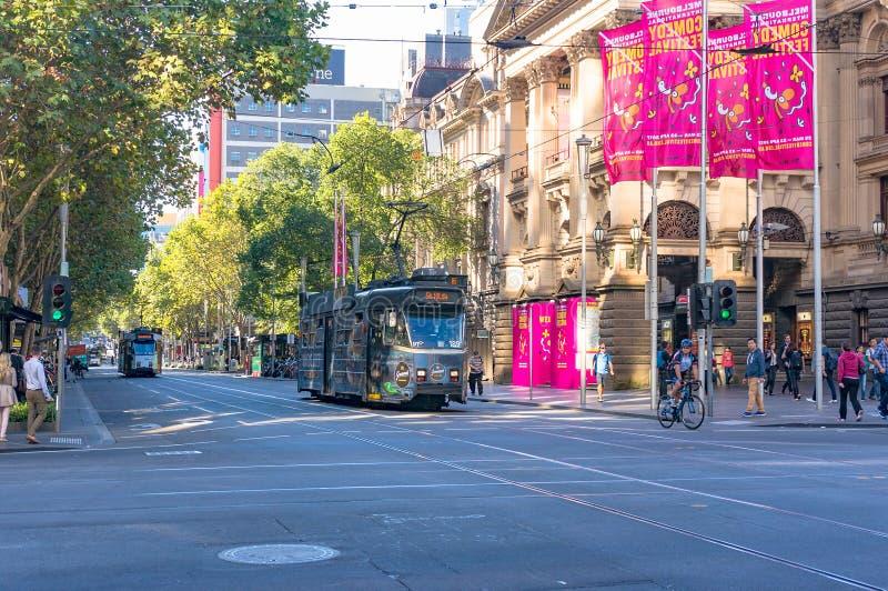 Melbourne tramwaje obrazy royalty free