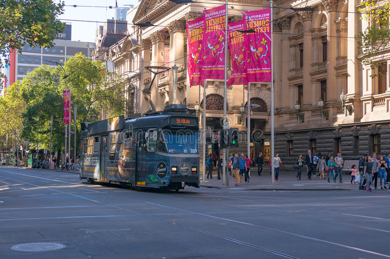 Melbourne tramwaje fotografia royalty free