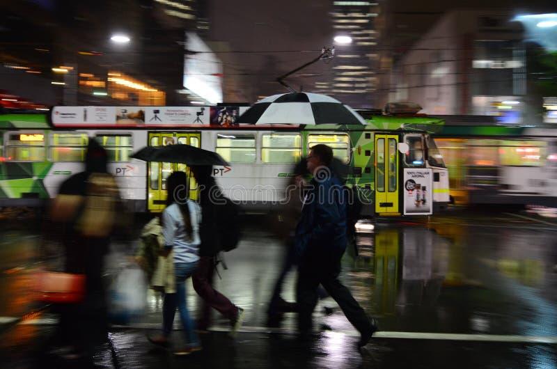 Melbourne tramwaju sieć zdjęcie royalty free