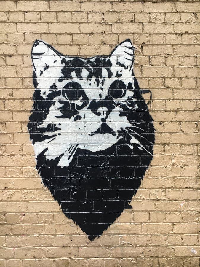 Melbourne unikalna uliczna sztuka zdjęcie stock