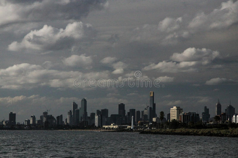Melbourne van het overzees royalty-vrije stock fotografie