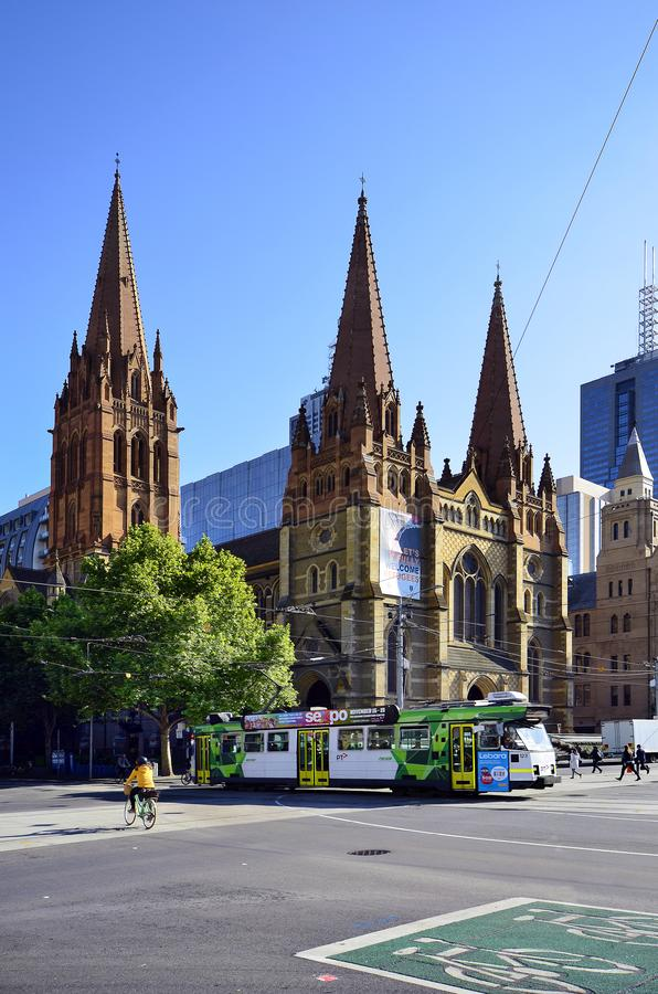 Australia, Victoria, Melbourne, St. Paul`s Cathedral royalty free stock photo