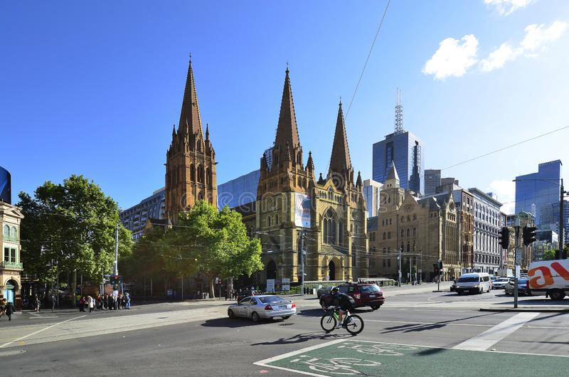 Australia, Victoria, Melbourne, St.Paul`s Cathedral royalty free stock photography