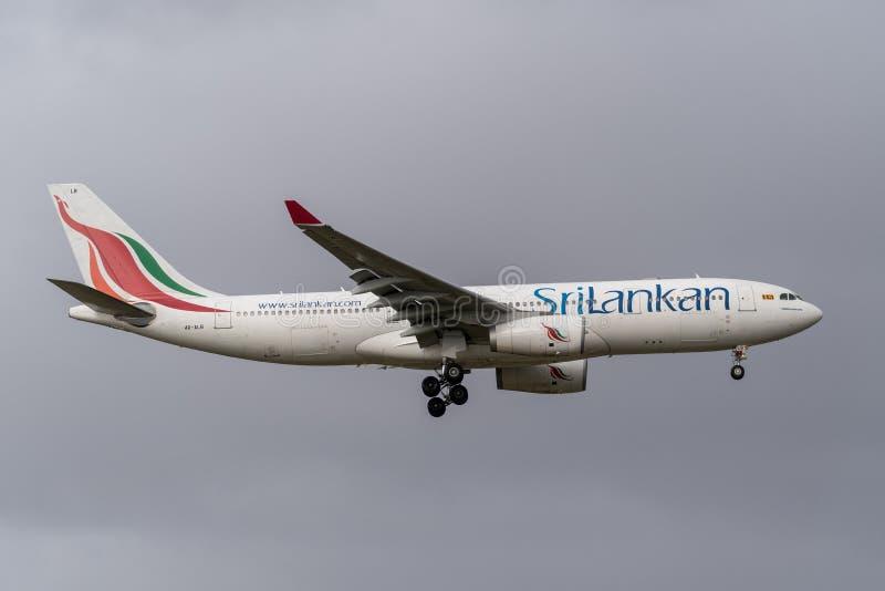 Melbourne, Victoria, Austrália - 21 de maio de 2018: Linhas aéreas cingalesas Airbus A330 foto de stock royalty free