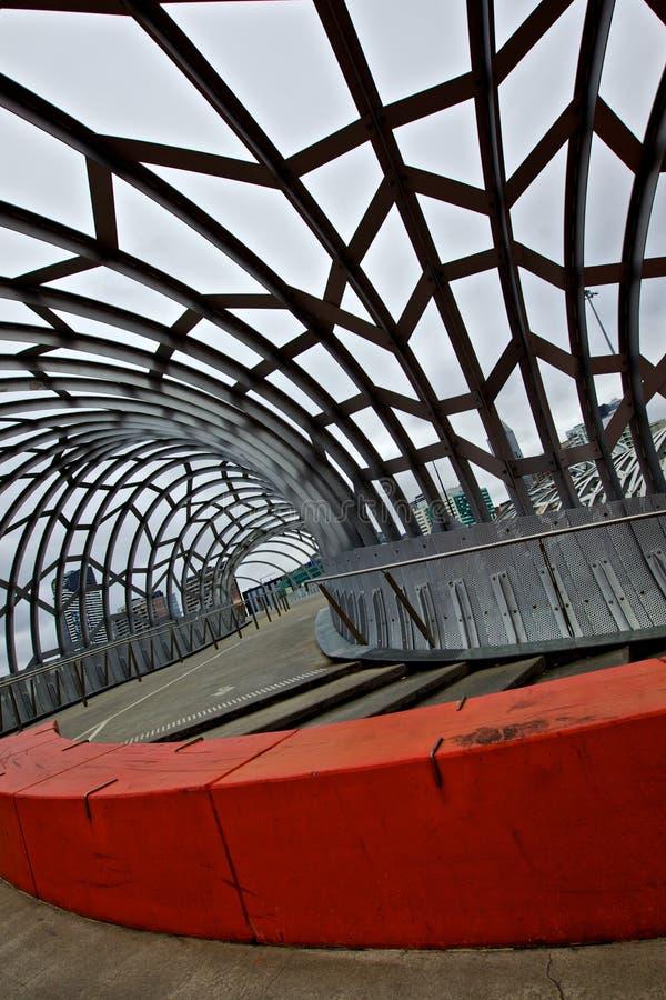 Melbourne, Webb bridge stock image