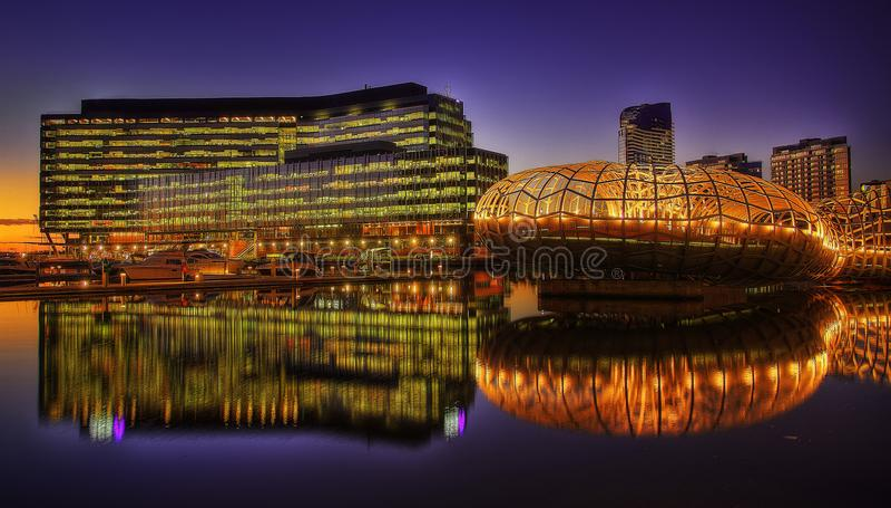 Melbourne Webb Bridge royalty free stock image