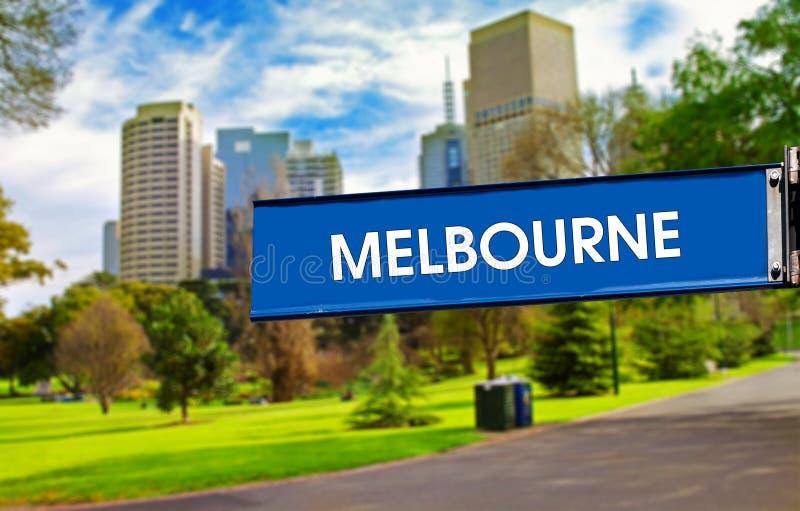 Melbourne znak zdjęcia royalty free