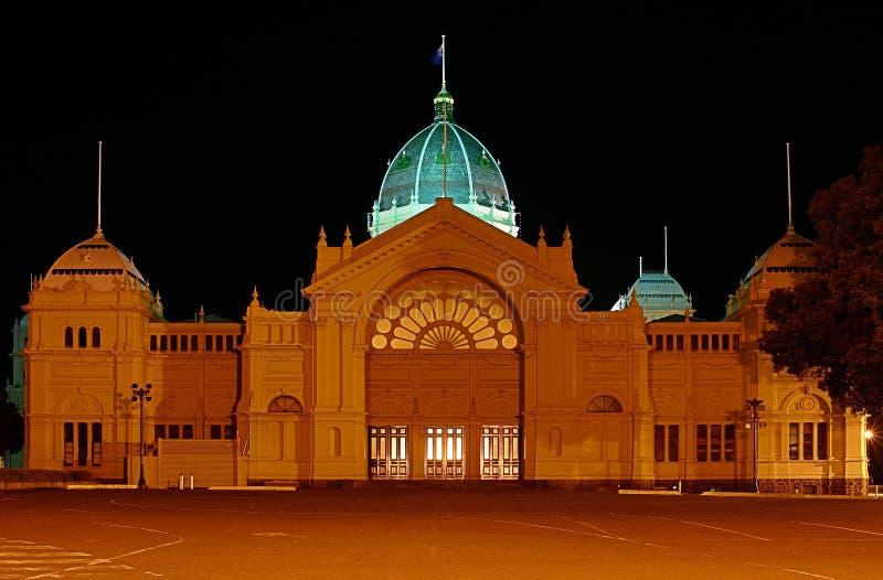 Melbournes königliches Ausstellung-Gebäude stockbilder