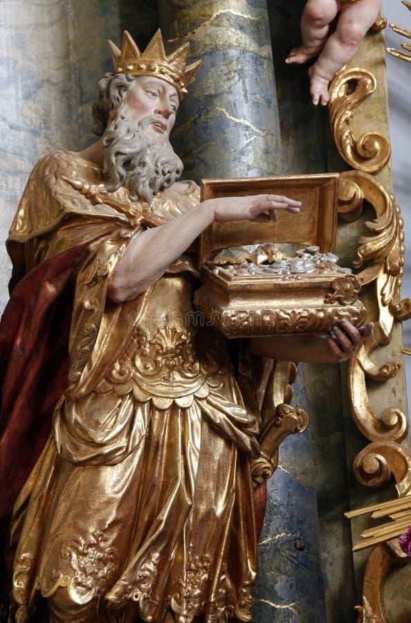 Melchior, três Reis Magos bíblicos fotografia de stock royalty free