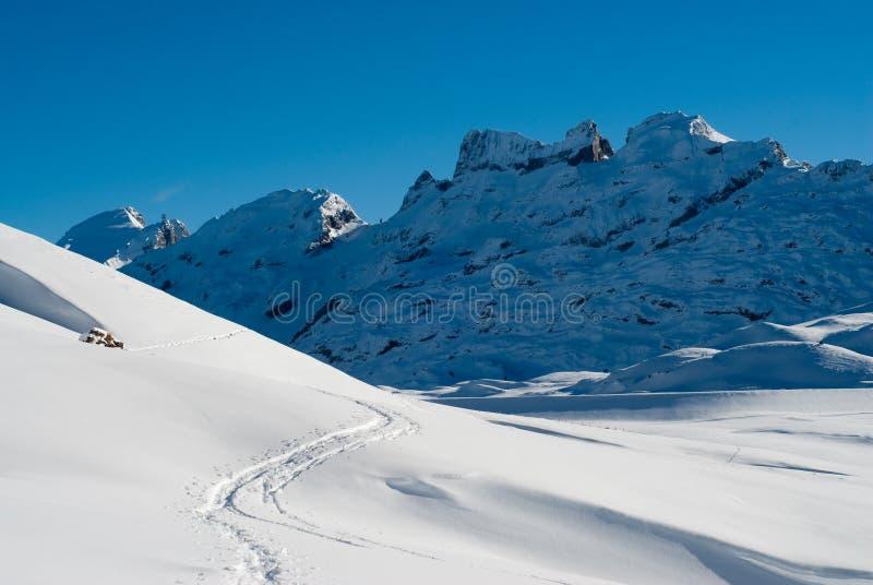 melchseefrut ίχνος χιονιού στοκ εικόνες
