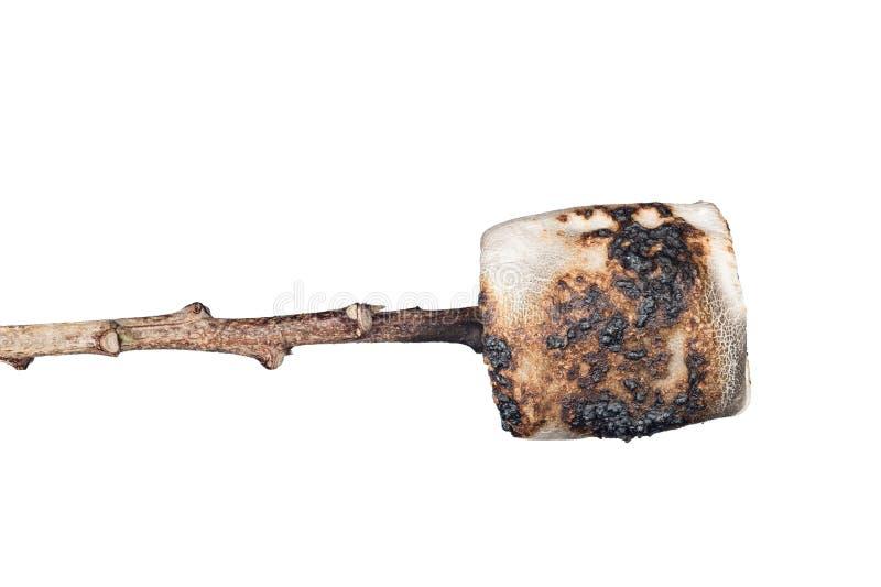 Melcocha quemada aislada encendido fotos de archivo libres de regalías
