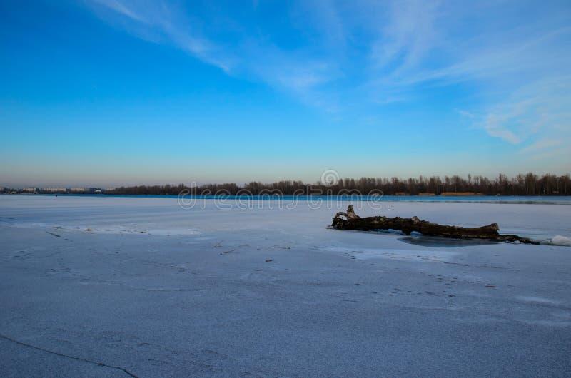 Melden Sie einen Schnee an lizenzfreies stockfoto