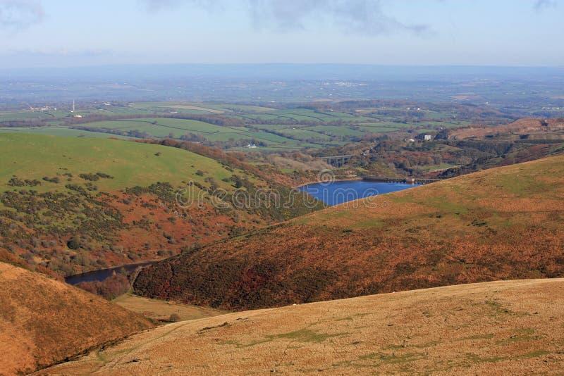 Meldon reservoir,Dartmoor. Dartmoor and Meldon reservoir in autumn royalty free stock images
