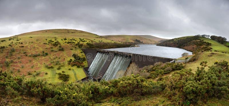 Meldon reservoir. Near Okehampton, Devon, United Kingdom. Taken on a dull day in February stock photos