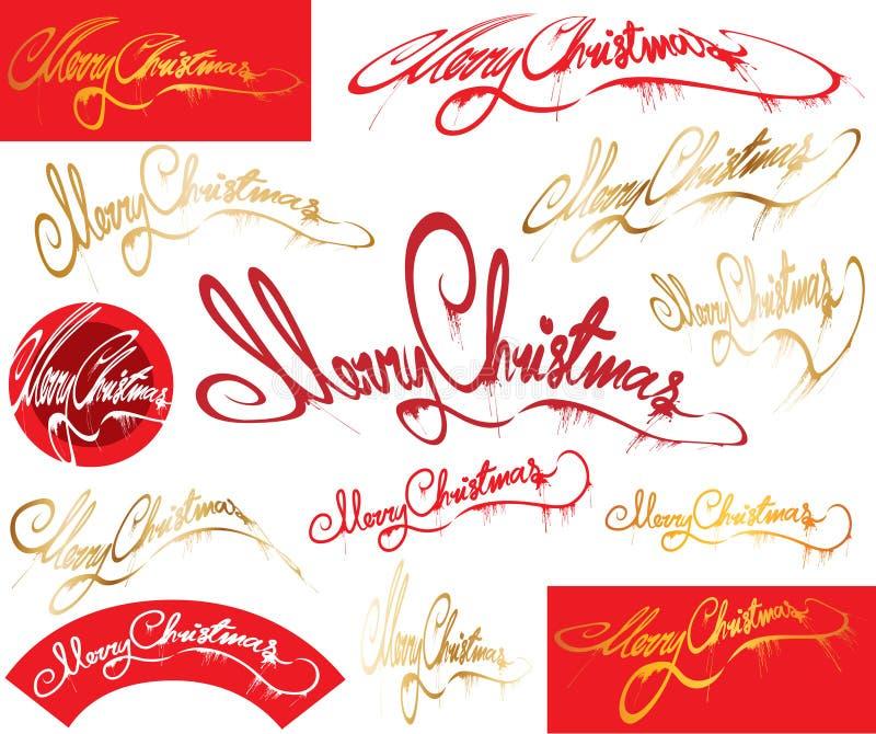 Meldung der frohen Weihnachten lizenzfreie abbildung