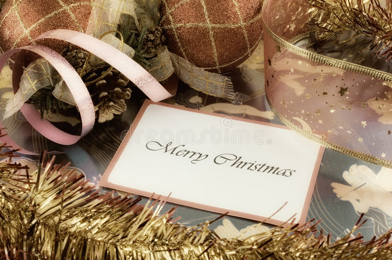 Meldung der frohen Weihnachten stockbilder