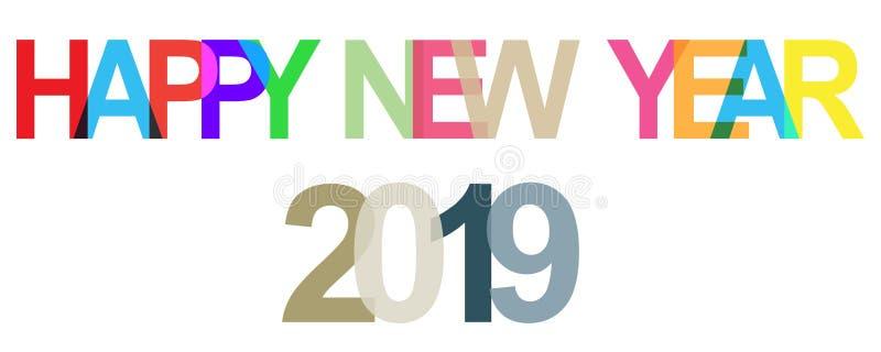 Meldung des glücklichen neuen Jahres stock abbildung