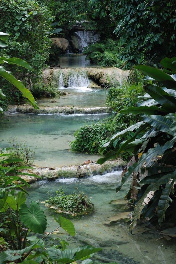 Mele Cascades. Waterfall, Efate, Vanuatu stock photography