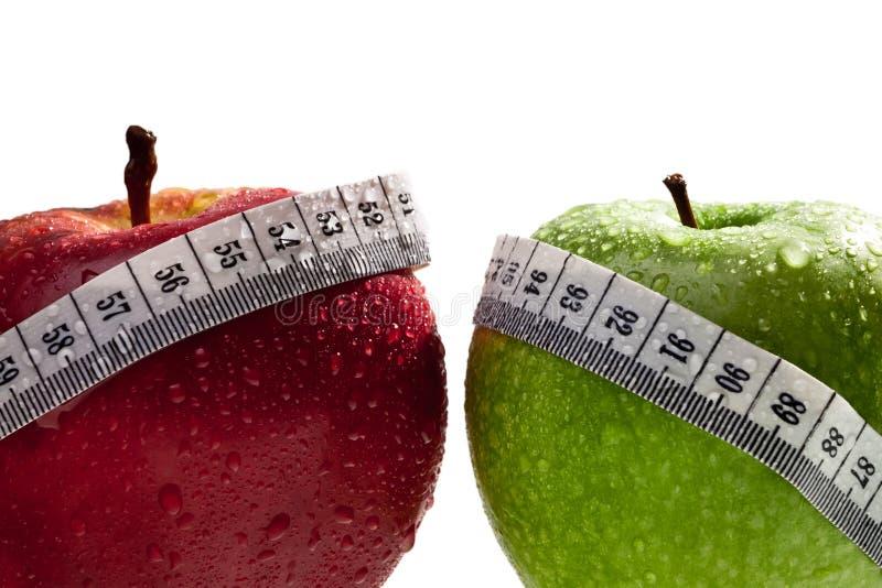 Mele come concetto della dieta sana immagine stock libera da diritti