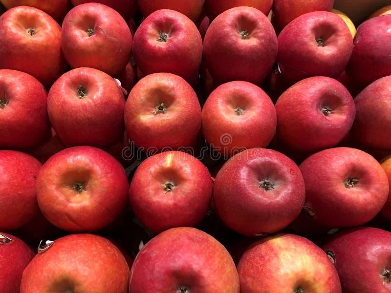 Mele rosse Verdure del abd di frutti immagine stock