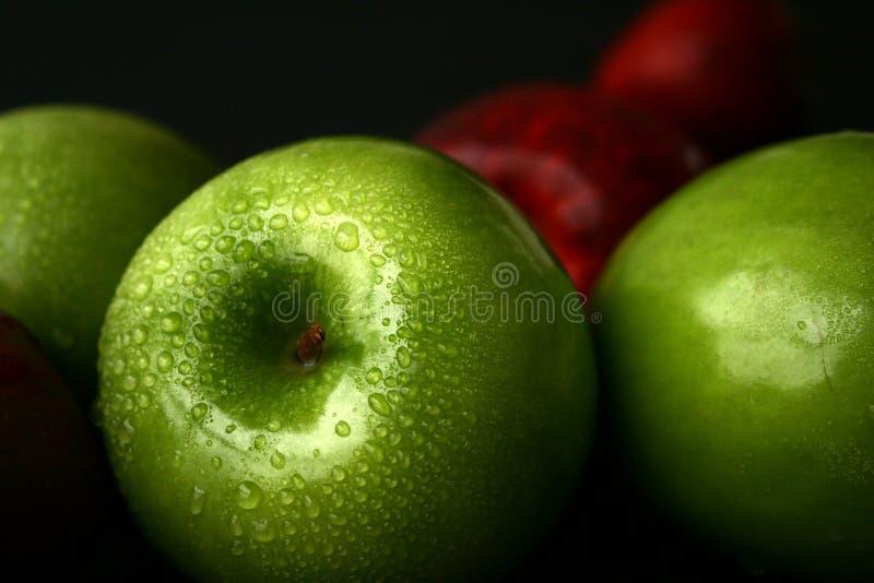 Mele verdi immagine stock