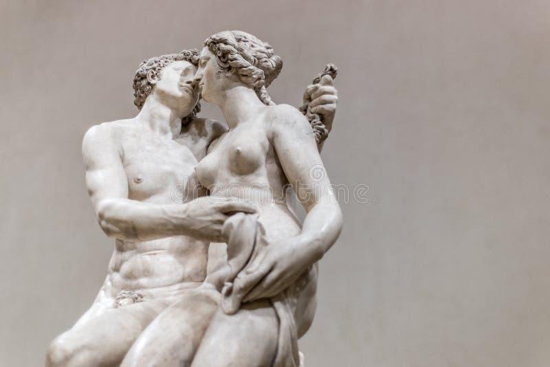 Meleager avec la sculpture en verrat de Calydonian photo libre de droits