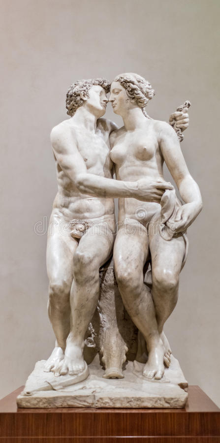 Meleager avec la sculpture en verrat de Calydonian image libre de droits