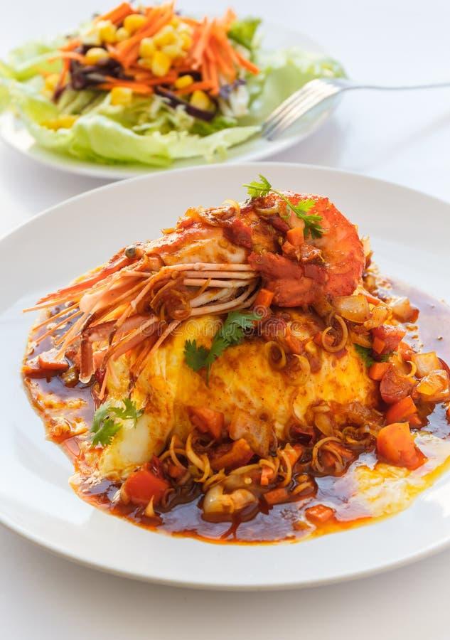 Melet tailandês do alimento com o camarão no molho ácido picante fotografia de stock royalty free
