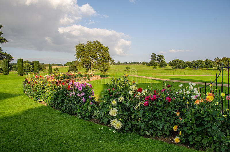 Melford Hall ogród zdjęcie stock