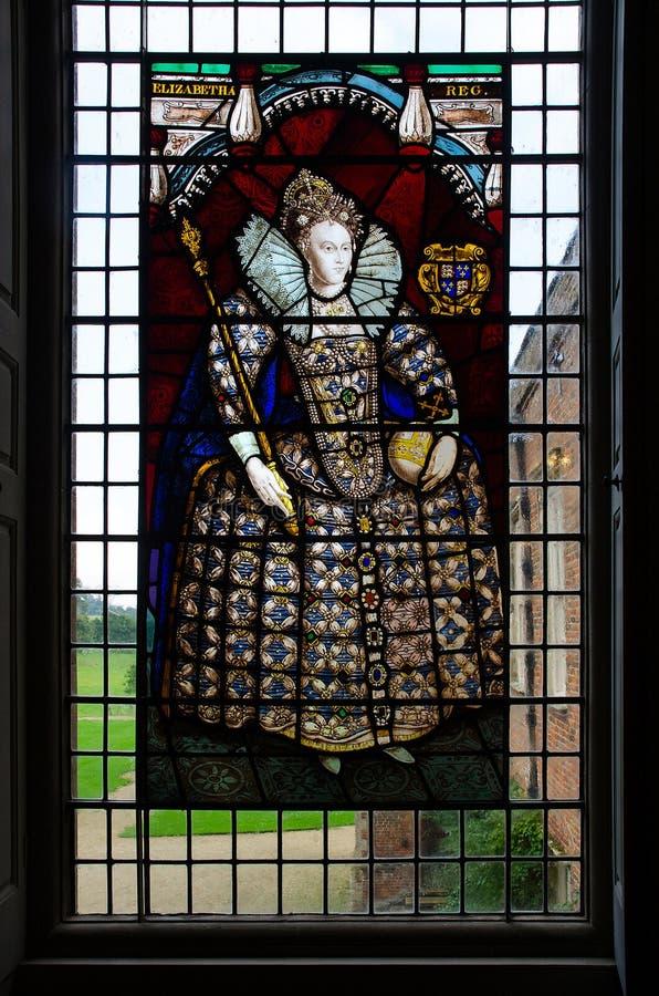 Melford Hall Stainglass okno obraz stock