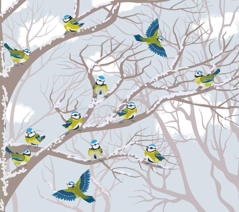 Melharucos azuis ilustração royalty free