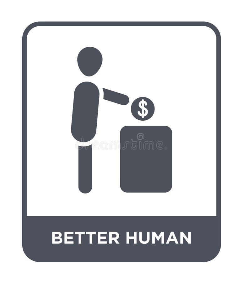 melhor ícone humano no estilo na moda do projeto melhor ícone humano isolado no fundo branco melhor ícone humano do vetor simples ilustração stock