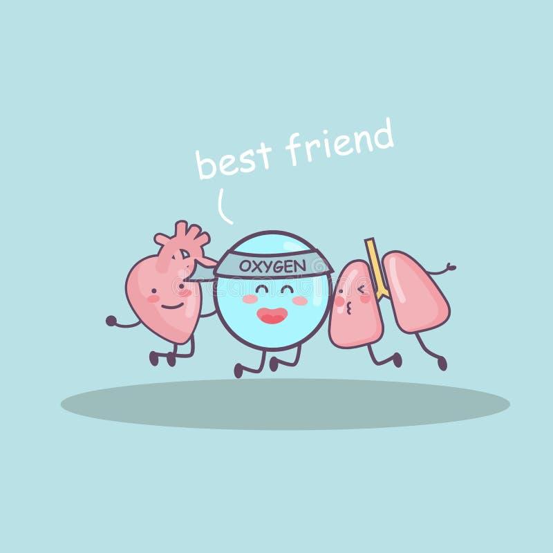 Melhor amigo ilustração stock