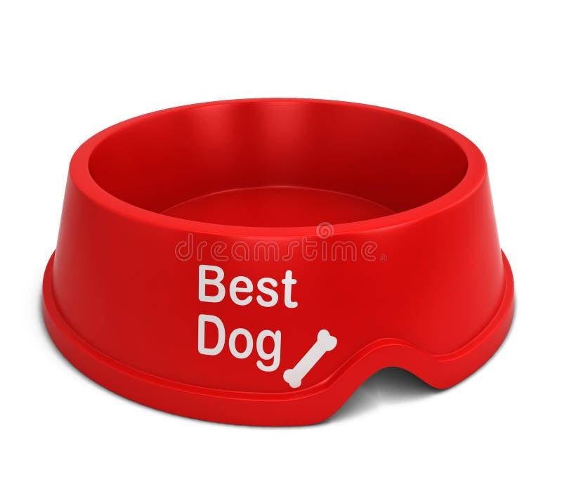 A melhor bacia do cão ilustração do vetor