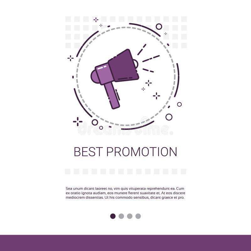 A melhor bandeira da compra da venda da promoção com espaço da cópia ilustração royalty free