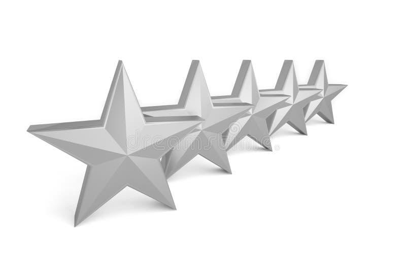 melhor cinzento de prata do sucesso da qualidade de 5 estrelas ilustração royalty free