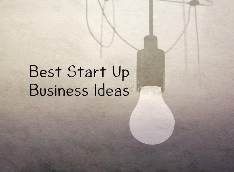 Melhor comece acima ideias do negócio imagens de stock royalty free