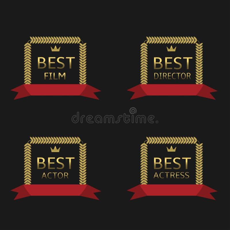 A melhor concessão do filme ilustração stock