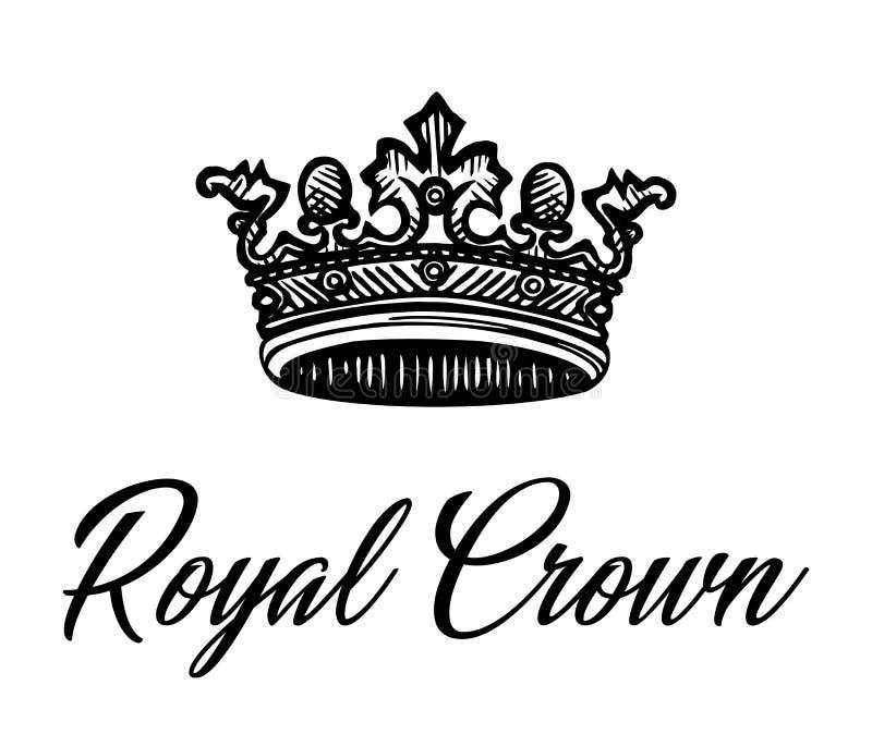A melhor coroa real preta ilustração royalty free