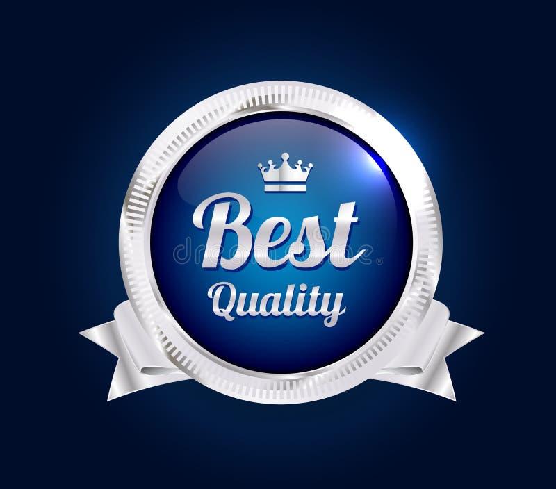 Melhor crachá de prata da qualidade ilustração royalty free