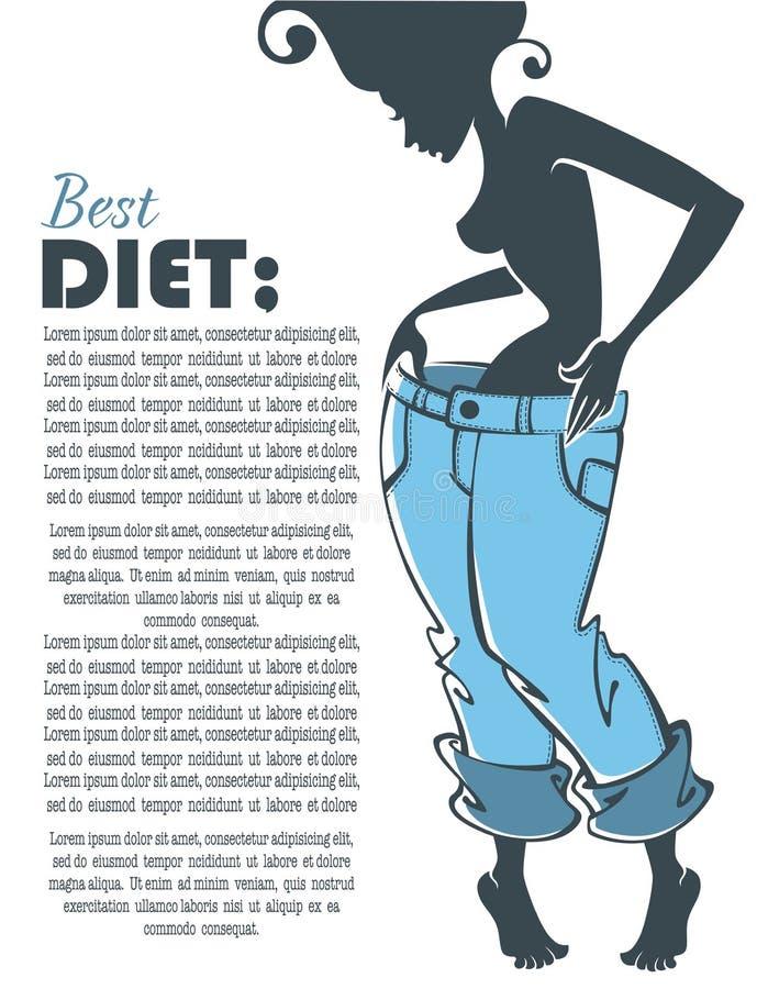 A melhor dieta ilustração stock