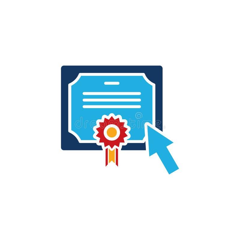 A melhor educação Logo Icon Design ilustração stock