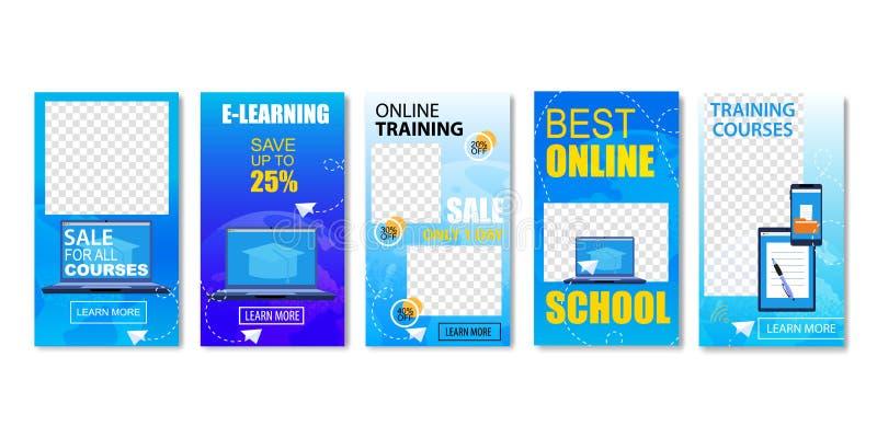 A melhor escola em linha, venda para todos os cursos ajustados ilustração royalty free