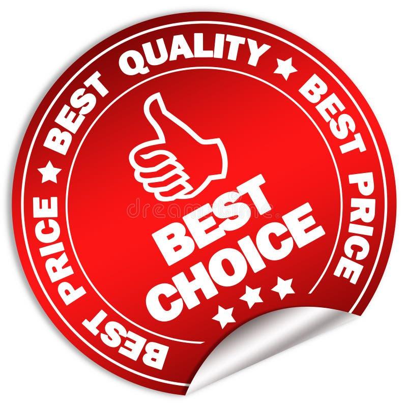 A melhor escolha ilustração royalty free