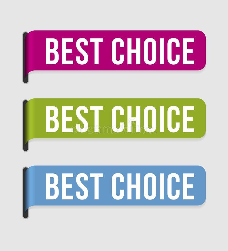 A melhor escolha do â moderno da etiqueta ilustração stock