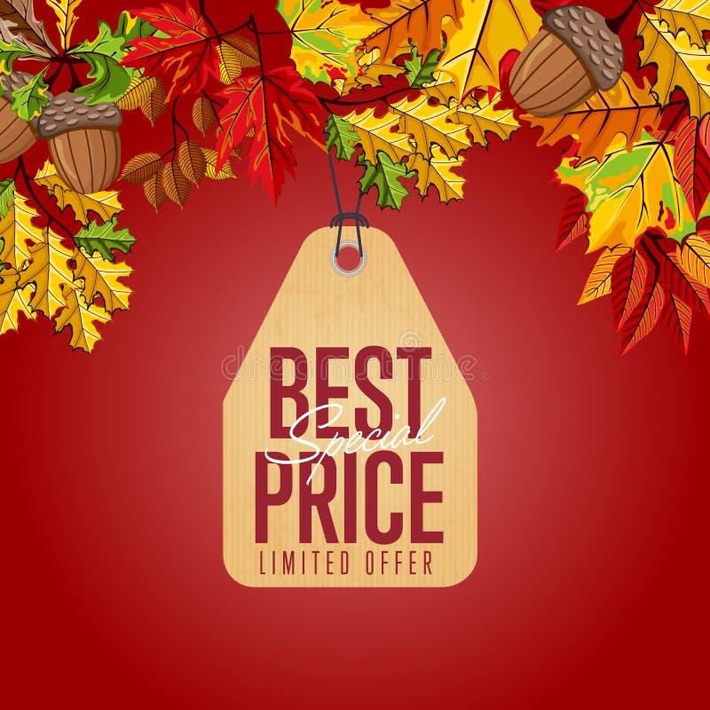 A melhor etiqueta de preço especial Oferta limitada ilustração do vetor